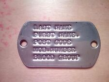 custom stamped/debossed 2 hole wrist/boot dogtag paracord bushcraft dog tag.
