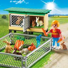 Playmobil - Bauernhof - Hasenstall mit Freigehege, NEU, OVP, 6140