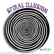 "STEEL HYPNO SPIRAL OPTICAL ILLUSION Spinning Metal Disk Shrinking Head Magic 6"""