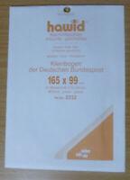 HAWID SCHAUFIX Block MOUNTS CLEAR Pack of 10 165mm x 99mm - Ref. No.2232
