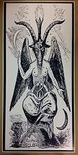 "Baphomet GIANT DOOR size 50"" x 24"" Satanic Worship Poster Evil Art Devil Hell"