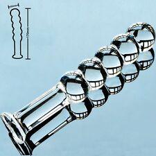Anal Plug Butt Plug pyrex Glass Dildo 5 Balls Massager - 30mm