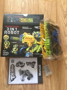 3 in 1 Tribo Keypad Coding Robot Kit Sweeper Doodler Shooter Build It Yourself