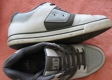 DC Sz 12 Gray White Leather Skate Board Sneakers Shoes Dynamic Grip Technology