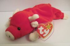 TY BEANIE SNORT THE BULL -14 ERRORS - PVC PELLETS - EXTREMELY RARE