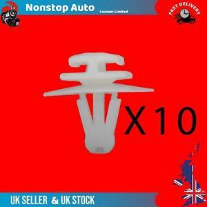 For RENAULT KANGOO CLIO Door Side Moulding Bump Strip Trim Fastener Clips X10
