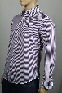 Ralph Lauren Purple White Custom Stripe Dress Shirt Blue Pony NWT