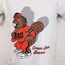 Oregon State Beavers T Shirt Vtg 80s 90s Single Stitch Made In USA Boys Youth L