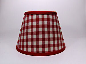 Country Waverly Red White Check Mate Fabric Lampshade Lamp Shade