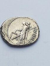 Roman Republic AR Denarius Mn Cordius Rufus , 46 BC , 3.56 gr , Syd 976a .