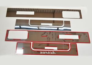 Mercedes Actros MP2/3 Cabin Side Streamers Super Polished Stainless Steel 6 Pcs