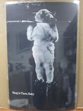 Vintage Black and white Poster Hang In There, Baby 1970's   Inv#G1136