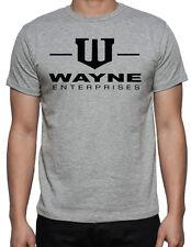 Wayne Enterprises Batman Dark Knight Bruce Wayne Superhero Gotham Grey T Shirt