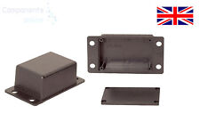 Small Tiny ABS Plastic Enclosure Project Boxes with Mounting Flanges- UK Made