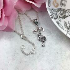 Silver Flamingo Necklace, Alice In Wonderland Necklace, AIW Gift Idea