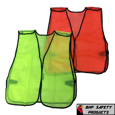 Hi Vis General Purpose Safety Vest Breakaway Mesh Traffic Safety Limeorange