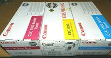 3 Canon CLC1100 Color Toner Cartridges - Cyan - Yellow - Magenta 1429A003[AA]