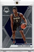 2019-20 Panini Mosaic Zion Williamson RC #209 Rookie Base Chrome Pelicans