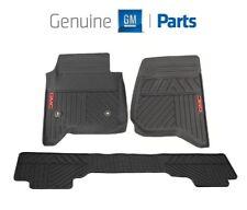 For GMC Sierra 2014-2018 Front & Rear Black All Weather Floor Mats Genuine GM