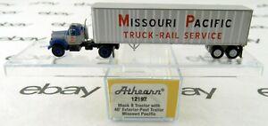 N Scale Mack B Tractor w/40' Trailer - Missouri Pacific - Athearn #12192