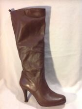 George Brown Knee High Leather Boots Size 38