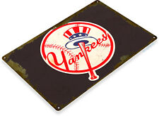 TIN SIGN New York Yankees Retro Metal Décor Stadium Baseball Card Shop A914