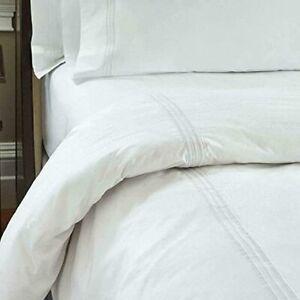 Koni Marriott Resort Duvet Cover White Decorative Stitch- Cal King 107 x 92