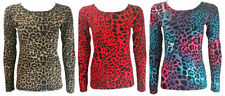 Long Sleeve Casual Leopard Tops for Women