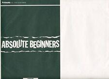 Absolute Beginners ORIGINAL Umschlag David Bowie KLASSE