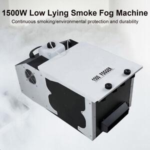 1500W Fog Machine Low Profile Smoke Effect Dry Ice Hanging DJ Stage with Wheels