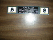 MARCO BARRERA (BOXING) NAMEPLATE FOR SIGNED GLOVES/TRUNKS/PHOTO DISPLAY