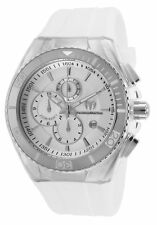 TechnoMarinE Unisex WHITE Cruise TM 115043 WHITE BLACK  band cover CASE 45MM NEW