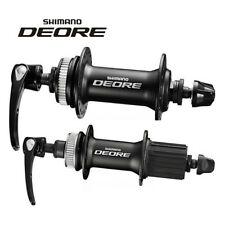 SHIMANO DEORE M615 Black Front Rear Disc Brake Hub&Quick Release for 8/9/10S