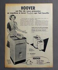 PUB PUBLICITE ANCIENNE ADVERT CLIPPING 200917/ MACHINE A LAVER CHAUFFANTE HOOVER