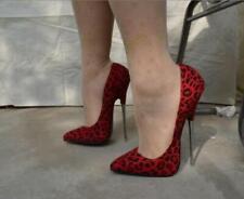 Womens Super High Heel Stilettos 16CM Evening Leopard Lover Shoes Slip On @US9