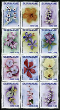 Suriname Flower Stamps 2020 MNH Flora Plants Nature 12v Block