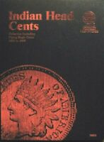 Whitman Indian Head Flying Eagle One Cent Penny Folder Album Book 1857 - 1909