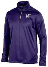 Champion NCAA Washington Huskies Men's 1/4 Zip Jacket Purple, XXL *NEW WITH TAGS