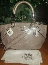 COACH MADISON EMBOSSED LEATHER PYTHON SNAKESKIN CARRYALL 16354 msrp $598