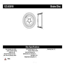 Brake Drum Front Centric 123.63010