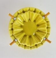 Vintage Ashtray San Francisco SNUFFY California Nob Hill Ceramics Yellow RARE