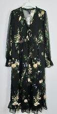 River Island Heritage  Floral Embellished Midi Smock Dress size 8 - 16