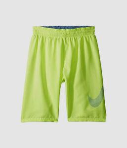 $310 Nike Kid's Green Neon Mash-Up Breaker Shorts Mesh Swimming Trunks Size XL