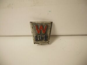 Rare Winchester Sterling Life Service Lapel Pin Award New Haven ct excellent