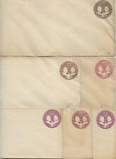 US 1893 COLUMBUS & LIBERTY SIX POSTAL COVERS Sc U349 U351 INCLUDES COLOR VARITIE