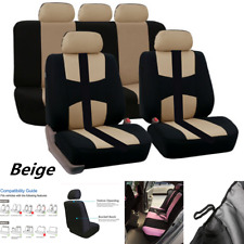 Car Seat Cover Protector Full Front Seat Pad 9pcs/Set-Sports Breathable Beige