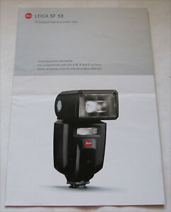 LEICA SF 58 FLASH BROCHURE - COMPATIBLE WITH LEICA M, R AND S SYSTEMS