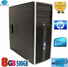 HP DESKTOP ELITE MINI TOWER  i5 8200.3.10 GHZ.2400 CPU.500GB. 8GB.WIN10 .DVD+RW