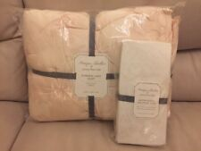Pottery Barn Kids Monique Lhuillier ETHEREAL LACE Crib Quilt/Sheet Blush Floral
