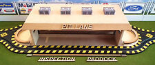 HO Laser-cut Pit Lane, Inspection Station, Paddock w/Borders, Walls, & Capstones